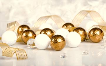 Golf Christmas Balls