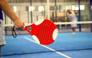 Playing Paddle Tennis