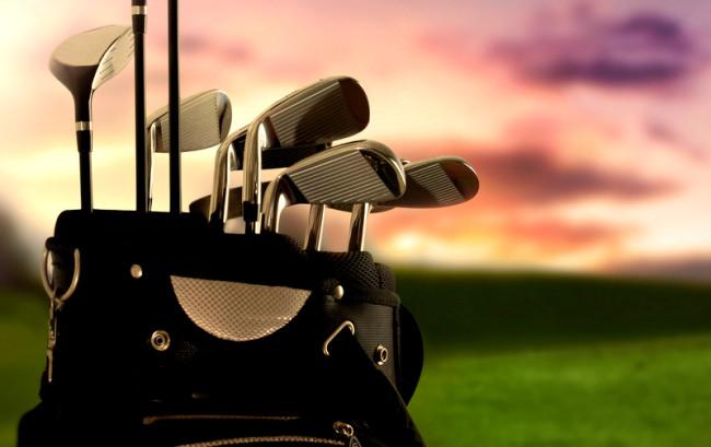 close-up of a golf bag