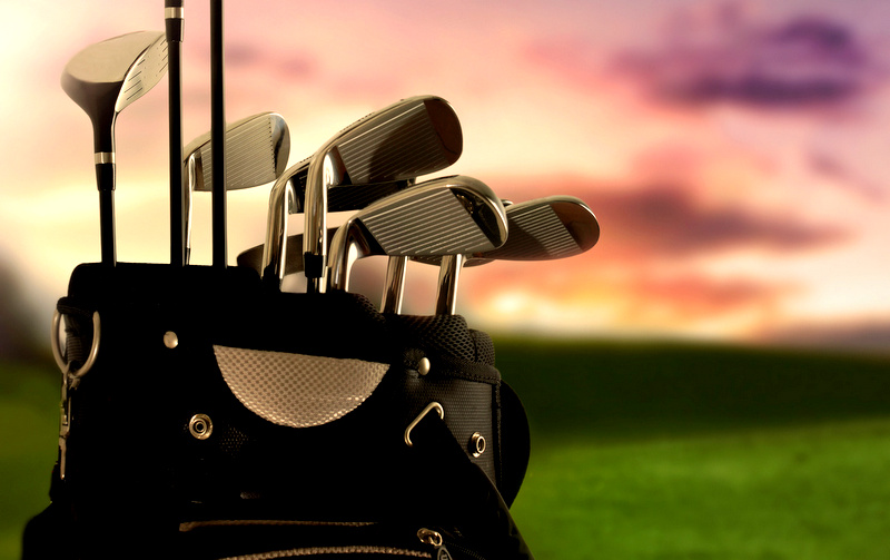close-up of a golf bag