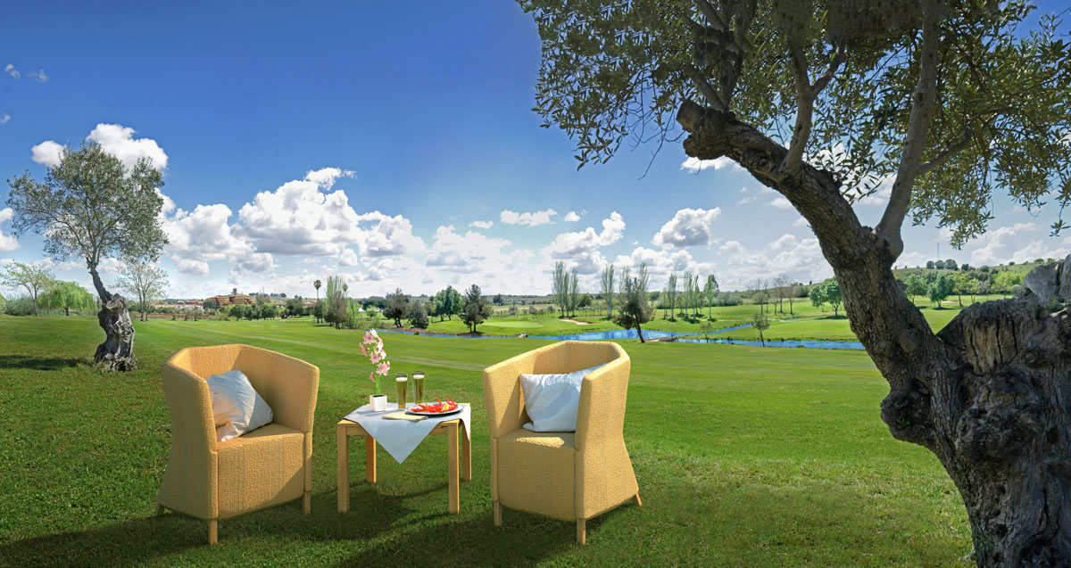 Golf-&-resort-guadiana-jardines-promocion-parcelas-chales-chalet-sillones-olivos